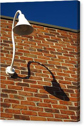 White Lamp With A Dark Secret Canvas Print by Guy Ricketts