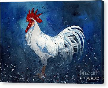 White Leghorn Canvas Print by Tim Oliver