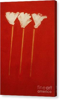 Canvas Print featuring the painting White Lillies by Fereshteh Stoecklein