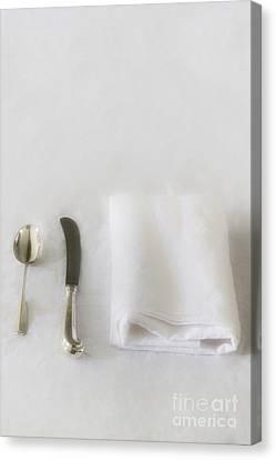 White Linen Canvas Print by Margie Hurwich