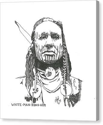 White Man Runs Him Canvas Print