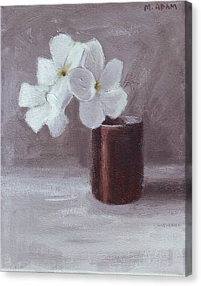 White Canvas Print by Mary Adam