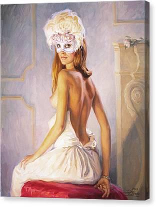 White Mask Canvas Print