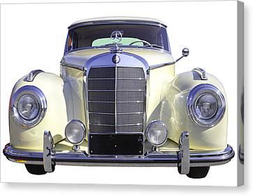 White Mercedes Benz 300 Luxury Car Canvas Print by Keith Webber Jr