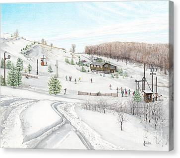 White Mountain Resort Canvas Print