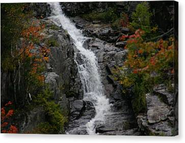 Canvas Print featuring the photograph White Mountain Water Fall  by Denyse Duhaime