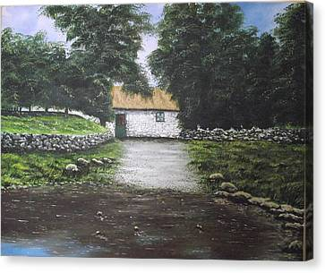 White O' Morn Cottage Canvas Print by Robert Gary Chestnutt