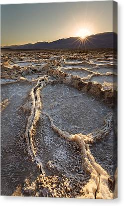 Canvas Print featuring the photograph Death Valley - White Ocean by Francesco Emanuele Carucci