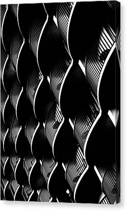 White On Black Canvas Print by Edward Khutoretskiy
