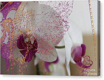 White Orchid Abstract Canvas Print
