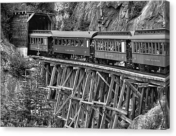 Canvas Print featuring the photograph White Pass Railway by Dawn Currie