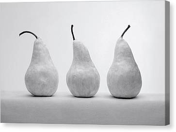Canvas Print featuring the photograph White Pears by Krasimir Tolev