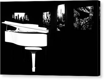 White Piano Canvas Print by Benjamin Yeager