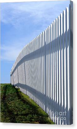 White Picket Fence Canvas Print by Olivier Le Queinec