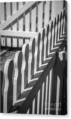 White Picket Fence Portsmouth Canvas Print by Edward Fielding