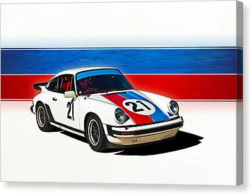White Porsche 911 Canvas Print