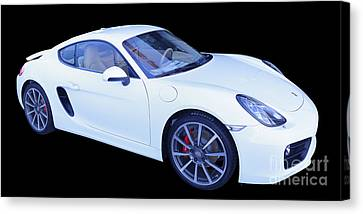 White Porsche Cayman S Canvas Print