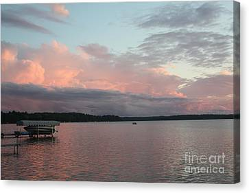 White Potato Lake Canvas Print by Nancy TeWinkel Lauren