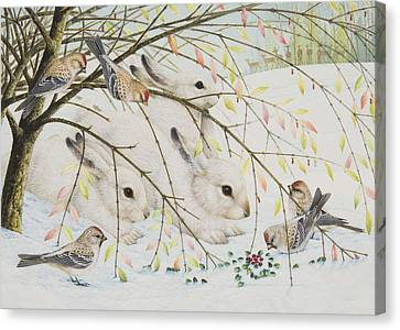 White Rabbits Canvas Print by Lynn Bywaters