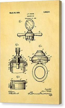 White Radiator Cap Patent Art 1928 Canvas Print by Ian Monk