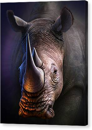 White Rhino Canvas Print by Jerry LoFaro