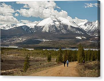 White River National Forest Trail Canvas Print