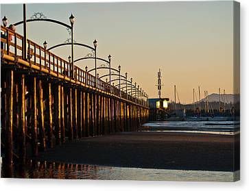Canvas Print featuring the photograph White Rock Pier by Sabine Edrissi