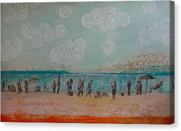 White Rock Canvas Print by Sandrine Pelissier