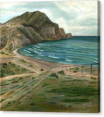 Water Jars Canvas Print - White Rock's Beach by Angeles M Pomata