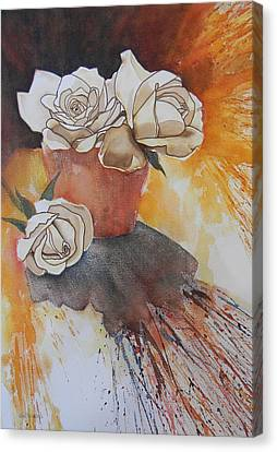 White Roses Canvas Print by Adel Nemeth