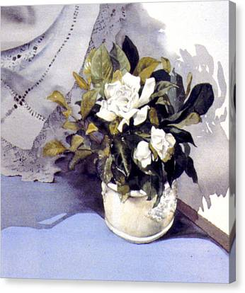 White Roses Canvas Print by Julia Rowntree