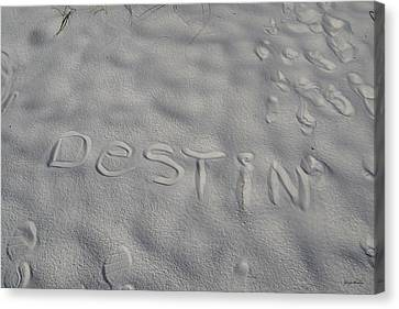 White Sand Of Destin 002 Canvas Print by George Bostian