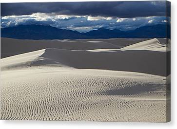 White Sands And San Andres Mountains Canvas Print