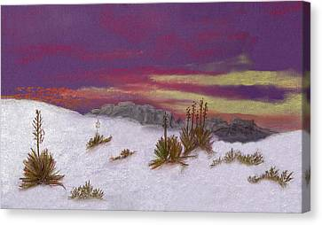 Canvas Print featuring the painting White Sands New Mexico by J Cheyenne Howell