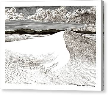 White Sands New Mexico Canvas Print by Jack Pumphrey