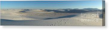 White Sands New Mexico Panorama 02 Canvas Print by Gregory Dyer