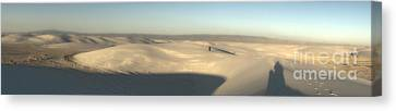 White Sands New Mexico Panorama Canvas Print by Gregory Dyer