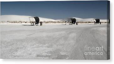 White Sands New Mexico Rest Area Canvas Print by Gregory Dyer