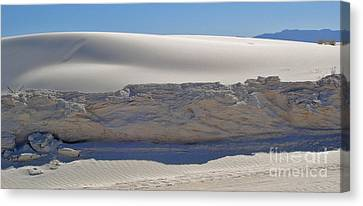 White Sands New Mexico Sand Dune Crumble Canvas Print by Gregory Dyer