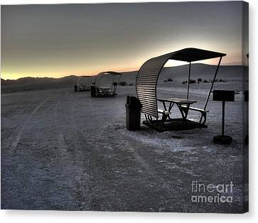 White Sands New Mexico Sunset Twilight 02 Canvas Print by Gregory Dyer