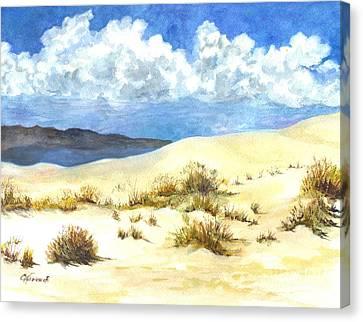 White Sands New Mexico U S A Canvas Print by Carol Wisniewski