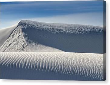 Canvas Print featuring the photograph White Sands Ridges by Kristal Kraft