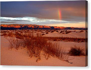 Canvas Print featuring the photograph White Sands Sunset by Christopher McKenzie