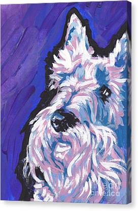 Scottish Dog Canvas Print - White Scot by Lea S