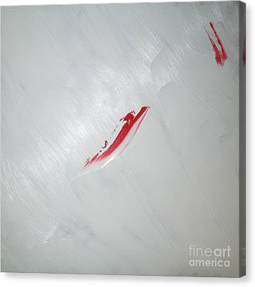 White Sea Red Whale 2 Canvas Print by Richard W Linford