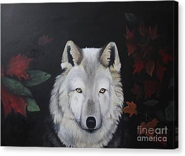 White Shaqdow Canvas Print