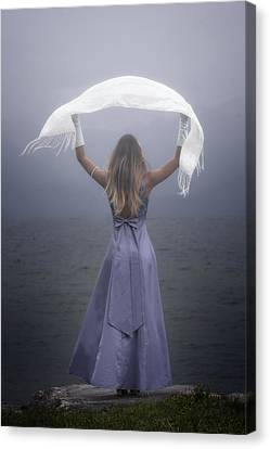 White Shawl Canvas Print