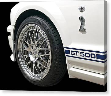 White Shelby Gt500 Canvas Print