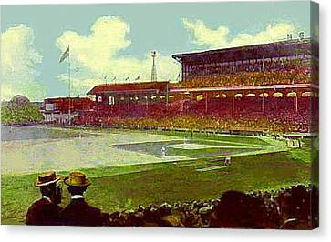 White Sox Ball Park In Chicago Il Around 1915 Canvas Print by Dwight Goss