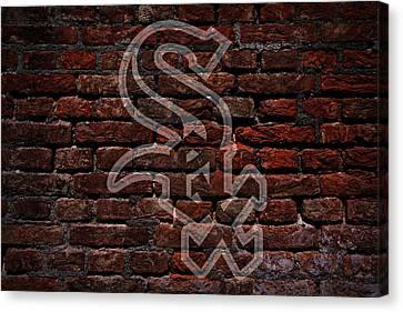Centerfield Canvas Print - White Sox Baseball Graffiti On Brick  by Movie Poster Prints